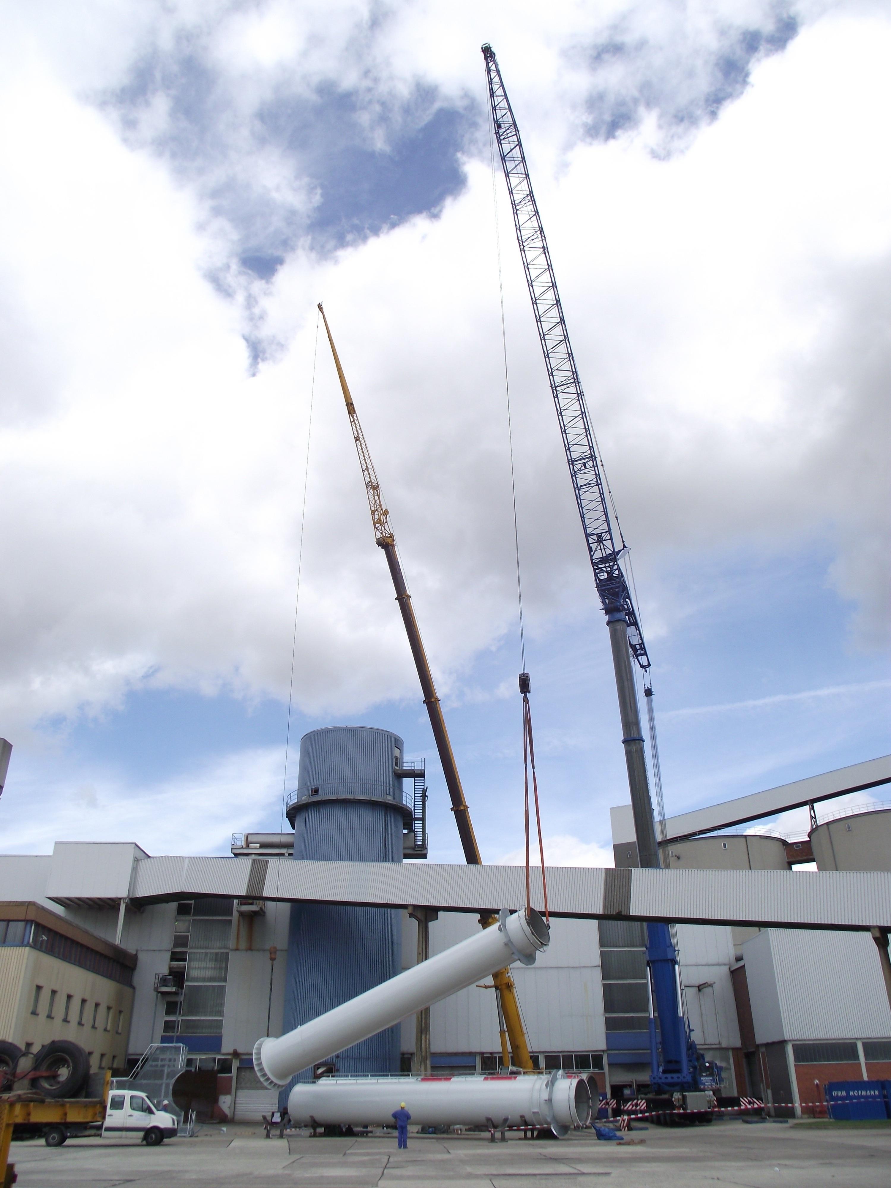 Einzügiger Stahlschornstein Zuckerfabrik