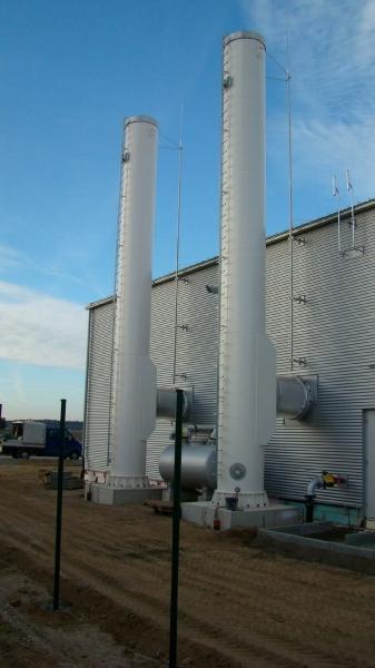 Einzügiger Stahlschornstein Wärmeversorgung Erdgasspeicher